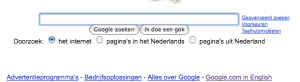 google.com in Englisch